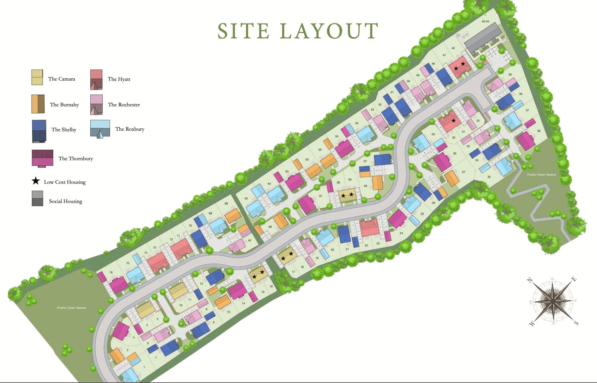 Woodlands Green Sitemap